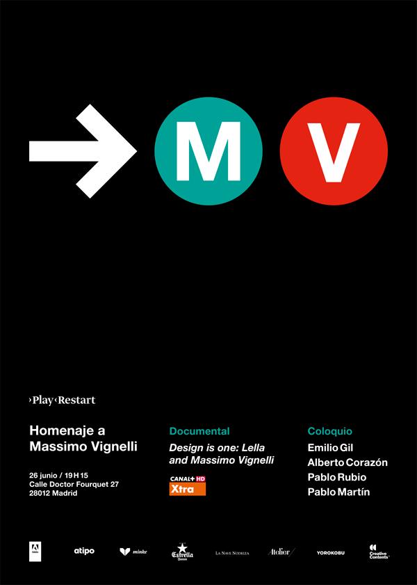 Vignelli-homenaje-poster